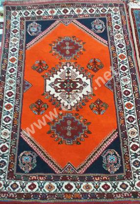 Iranian Handmade 1.8 m woolen Orange Carpet