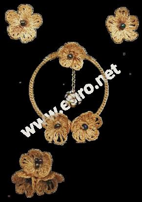 Picture of Golden Flowers Half Set